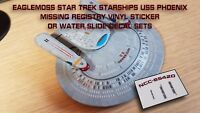 USS PHOENIX Missing Registry Decal/Sticker Set - Star Trek Starships EAGLEMOSS