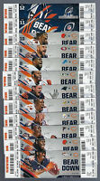 2017 NFL CHICAGO BEARS FULL UNUSED FOOTBALL TICKETS MITCH TRUBISKY ROOKIE DEBUT