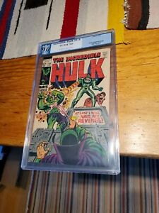PGX 9.0 Incredible Hulk  #114 Marvel 4/69 Graded Comic
