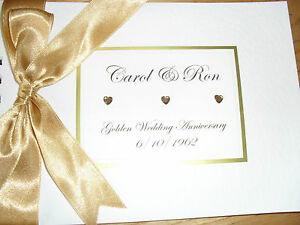 Wedding Anniversary Guest Book / Album - Personalised Ivory Book