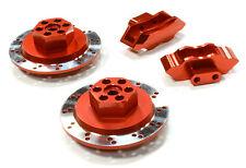 C26453RED Integy Model Alloy Rear Brake Hex Hub Set for HPI 1/10 Scale E10