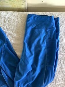 Women's (XL) Blue Activewear Bottoms W/ Mesh Sides From Above The  Knee