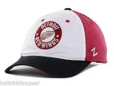 Detroit Red Wings Zephyr Hats Circle Trey NHL Hockey Team Logo Men's Cap