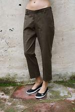 CONTE di Firenze Donna Pantaloni Jeans Denim Verde elasticizzato dritto W32 UK14