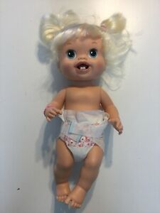 BABY ALIVE Drink N' Wet  Blonde Baby Doll 2010 Doll