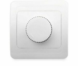 Wall Dimmer Controller For Lamps Round Backsides 800W Maximum Light Switches New
