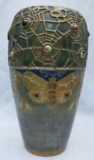 Amphora Butterfly & Spider Web Semiramis Vase by Paul Dachsel