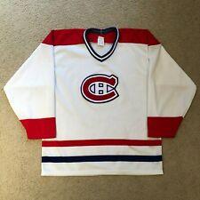 Vintage Montreal Canadiens Hockey CCM Maska Hockey Jersey White Medium 80's