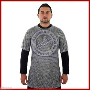Medieval Aluminium Chainmail Shirt Butted Chain Mail Armor for Role Play Theatre