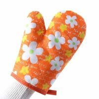 Heat Proof Insulated Resistant Non-Slip Gloves Oven Mitts Microwave Kitchen