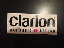 STICKER AUTOCOLLANT CLARION CAR AUDIO & BEYOND MOTORSPORT RALLYE