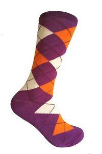 Men's Groomsman Gift Wedding Party Event  Mid-Calf Argyle Dress Socks