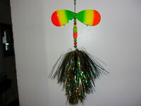 """Musky Mayhem Tackle Double Cowgirl 10-10/"""" Size Spinner Walleye Color DC057 NEW"""