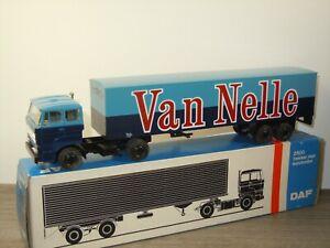 Daf 2800 Truck & Trailer Van Nelle - Lion Car Holland 1:50 in Box *53183