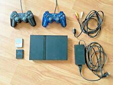Sony PlayStation PS2 Slim Console Bundle Black Complete 2 Controllers, Mem Cards