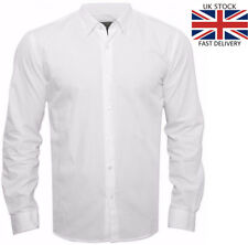 Men's Full Sleeve Formal / Office wear / Work WHITE Shirt