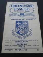 Football Programme - Queen's Park Rangers v Walthamstow Avenue 6/10/1958