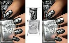 Sally Hansen Crackle Overcoat Nail Polish 03 Fractured Foil- New