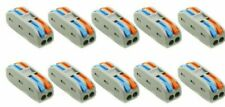 10 X WAGO (Type) SPL-2  ELECTRICAL CONNECTORS (CE Approved)   32 Amp