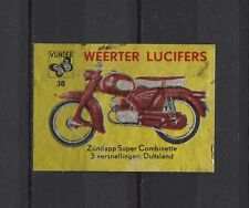 Zundapp Super Combinette Motorbike/Moped Weerter Vintage Matchbox Label No.30