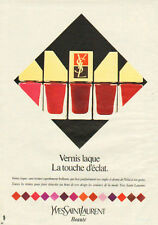 Publicité Advertising 1982   YVES SAINT LAURENT vernis à ongles laqué