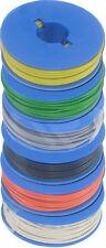 Litze 0,25mm² 6 x 10m Spulen gl-gn-gr-rt-sw-ws deutsche Reinkupferware
