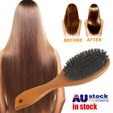 Natural Boar Bristle Brush Comb Anti-static Oval Hairdressing Hair Styly Comb MB
