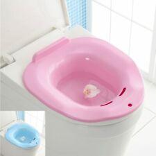 2x Plastic Sitz Bath Tub Toilet Hip Postpartum Hemorrhoids Perineal Therapy