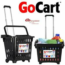 dbest products GoCart, Black Grocery Cart Shopping Laundry Basket on Wheels