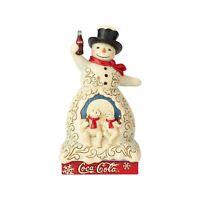 """Enesco Jim Shore Christmas Coca Cola Snowman Polar Bear Figurine 7.2"""" 6001000"""