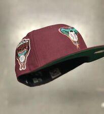 Hat Club Exclusive New Era Arizona Diamondbacks Merlot Kelly Green UV Size 7 1/4