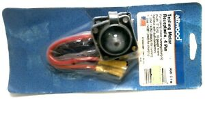 Attwood 14349-3 Trolling Motor Receptacle, 4 Pin - for Running/Charging Plugs