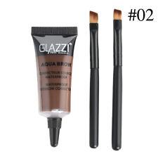 2* Brown Waterproof Tint Eyebrow Henna With Mascara Eyebrows Paint Brush Beauty