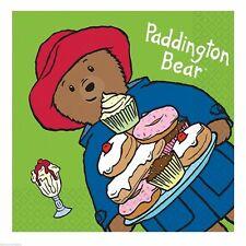 Pack of 16 Paddington Bear Paper Napkins - Tableware - Birthday - Party - Unisex