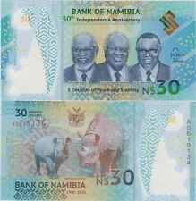 Namibia 2020 Independence 30th Commemorative Polymer Banknote 30 Dollars UNC