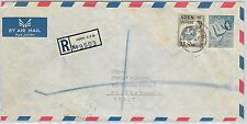 61405  - ADEN - POSTAL HISTORY - REGISTERED  COVER to ITALY 1962