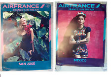 AFFICHE AIR FRANCE IN THE AIR LOT DE 2