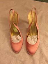 J.Crew Cate Satin Height-heel Slingback Lady Shoes, Dusty Rose, Size 8