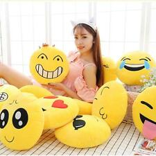 Emoji Smiley Emotion Soft Stuffed Plush Round Cushion Pillows Toy Doll Decor