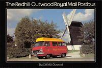 Postcard 1979 FDI Redhill to Outwood Royal Mail Postbus Windmill Dodge MINT 29X
