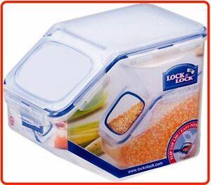 ❤  Lock & Lock Rectangular Tapered Rice Grain Cereal Case 5L Container Storage ❤
