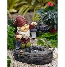 Gnome Fountain with Solar Light