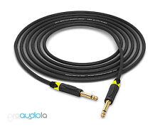 "Mogami 2524 Instrument Cable   Neutrik Gold 1/4"" TS   Yellow Boots   15 Feet"
