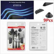 9x Car PVC Reduced Wind Barrier Strips Car Auto Driving Shark Fin Anti-noise Kit