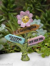 Miniature Dollhouse FAIRY GARDEN Accessories ~ FAIRYTALE Flower Sign Post ~ NEW