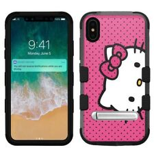 "for Apple iPhone Xs Max (6.5""), Hard+Rubber Rugged Case Hello Kitty #D"