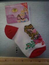 New Disney Girls Pair PRINCESS  Socks Show shoe size 5.5 to 8.5