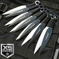 "12pc JTEC Naruto Kunai 6"" THROWING KNIVES Ninja Knife Dagger SET w/Sheath -JTN12"