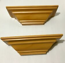 "2 Modern Wall Shelf Sconce Wooden 12"" x 4"""