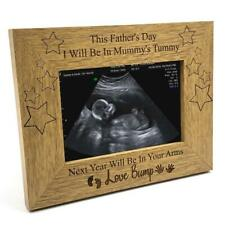 Fathers Day Gift For Dad To Be Wooden Baby Scan Photo Frame FW324